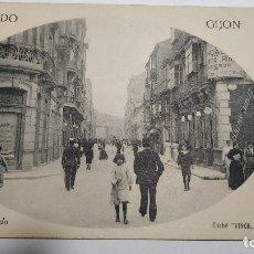 Postales: RECUERDO GIJON.CALLE SAN BERNARDO. Lote 182037865