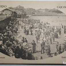 Postales: RECUERDO DE GIJON.PLAYA SAN LORENZO. Lote 182041511