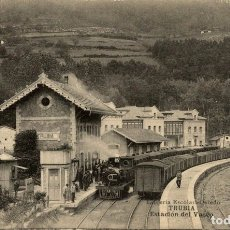 Postales: TRUBIA. ESTACION DEL VASCO. Lote 182496187