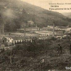 Postales: TRUBIA. VISTA GENERAL DE LA FABRICA DE ARMAS. Lote 182496222
