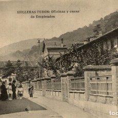 Postales: HULLERAS DE TURON. OFICINAS Y CASAS DE EMPLEADOS. Lote 182496753