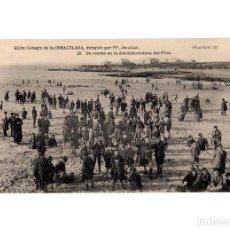 Postales: GIJÓN.(ASTURIAS).- COLEGIO DE LA INMACULADA, PP. JESUITAS.- DE RECREO EN LA DESEMBOCADURA DEL PILES.. Lote 183732368