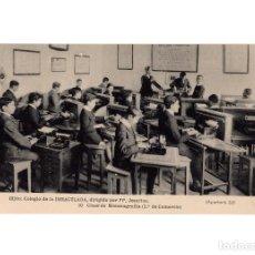 Postais: GIJÓN.(ASTURIAS).- COLEGIO DE LA INMACULADA, DIRIGIDIO POR PP. JESUITAS.- CLASE DE MECANOGRAFÍA. . Lote 183735327