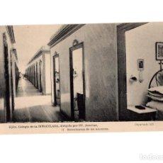 Postales: GIJÓN.(ASTURIAS).- COLEGIO DE LA INMACULADA, DIRIGIDIO POR PP. JESUITAS.- DORMITORIOS DE LOS ALUMNOS. Lote 183737853