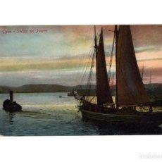 Postales: GIJÓN.(ASTURIAS).- SALIDA DEL PUERTO.. Lote 183809181