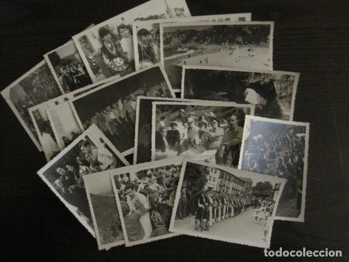 Postales: NUEVA LLANES-ASTURIAS-CONJUNTO DE 16 FOTOGRAFIAS ANTIGUAS-FIESTAS...-FOTO DE DIEGO-VER FOTOS(V-18307 - Foto 2 - 184549190