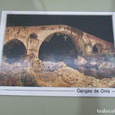 Postales: CANGAS DE ONIS - PUENTE ROMÁNICO SOBRE EL RÍO SELLA - S/C. Lote 185973665
