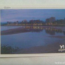 Postales: POSTAL DE GIJON ( PRINCIPADO DE ASTURIAS ); PLAYA DE SAN LORENZO. Lote 185978647