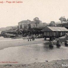 Postales: LLANES. PLAYA DEL SABLÓN. G. FERNANDEZ. Lote 185993493