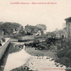 Postales: LLANES. OBRAS INTERIORES DEL PUERTO. G. FERNANDEZ. Lote 185993722