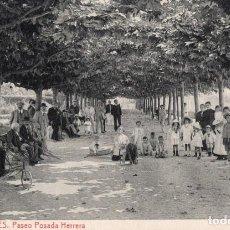 Postales: LLANES. 3 PASEO POSADA HERRERA. LIBRERÍA PESQUERA. Lote 185994133