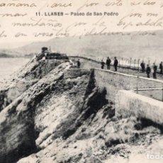 Postales: LLANES. 11 PASEO DE SAN PEDRO. Lote 185994408