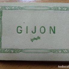 Postales: BLOC MINIATURA, FOTOGRAFICAS DE GIJON ED. L ROISIN. CARPETILLA FUELL16 VISTAS.. Lote 186056445