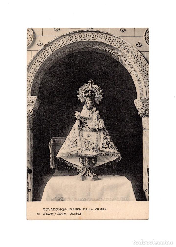 COVADONGA.(ASTURIAS).- IMAGEN DE LA VIRGEN. (Postales - España - Asturias Antigua (hasta 1.939))