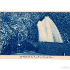 Postales: COVADONGA.(ASTURIAS).- LA CASCADA DE LA SANTA CUEVA.. Lote 186340567