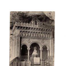 Postales: COVADONGA.(ASTURIAS).- CAPILLA DE LA VIRGEN. INTERIOR DE LA GRUTA.. Lote 186341437