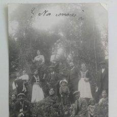 Postales: ANTIGUA POSTAL FOTOGRAFICA DE CALDAS - ASTURIAS - AÑO 1913 - GRUPO DE PERSONAS - . Lote 189570515