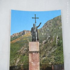 Postales: COVADONGA - ESTATUA DEL REY DON PELAYO - S/C. Lote 189749597