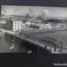 Postales: AVILES ASTURIAS PUENTE DE SAN SEBASTIAN Y SIDERURGICA. Lote 190241545