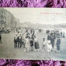 Postales: GIJON.CALLE EZCURDIA. Lote 190392148
