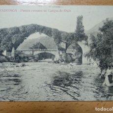 Cartes Postales: ASTURIAS COVADONGA PUENTE ROMANO DE CANGAS DE ONIS . ED. HOTEL PELAYO.. Lote 190504652