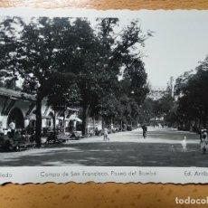 Cartoline: OVIEDO (ASTURIAS), CAMPO DE SAN FRANCISCO. PASEO DE BOMBE. EDITA: ED. ARRIBAS Nº15.. Lote 190505238