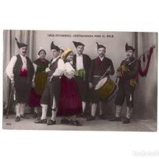 Postales: TIPOS ASTURIANOS. PREPARANDO PARA EL BAILE. . Lote 190703806