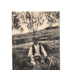Postales: OVIEDO.(ASTURIAS).- MANOLIN EL COXU - CABRUÑANDO LA GUADAÑA.. Lote 190733071