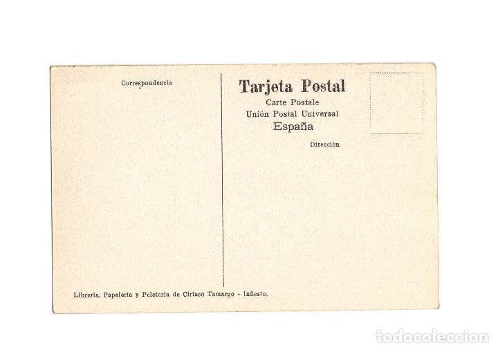 Postales: INFIESTO.(OVIEDO).- UNA SECCIÓN DEL BATALLÓN INFANTIL HACIENDO SIMULACRO. - Foto 2 - 190761846