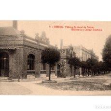 Postales: OVIEDO.(ASTURIAS).- FÁBRICA NACIONAL DE ARMAS. BIBLIOTECA Y CENTRAL ELÉCTRICA.. Lote 190984346