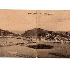 Postales: RIBADESELLA.(ASTURIAS).- VISTA GENERAL DOBLE.. Lote 190986100