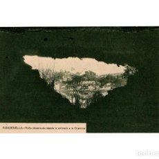 Postales: RIBADESELLA.(ASTURIAS).- VISTA OBSERVADA DESDE LA ENTRADA DE LA CUEVONA.. Lote 190994613