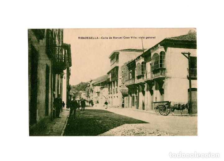 RIBADESELLA.(ASTURIAS).- CALLE MANUEL CASO VILLA. VISTA GENERAL. (Postales - España - Asturias Antigua (hasta 1.939))