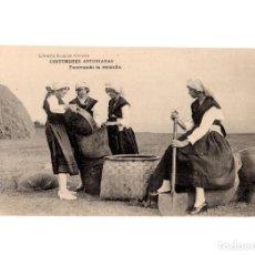 Postales: ASTURIAS.- COSTUMBRES ASTURIANAS, PENERANDO LA ESCANDA.. Lote 191006981