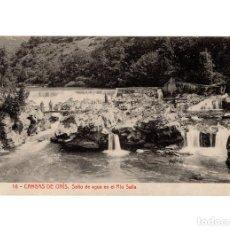 Postales: CANGAS DE ONÍS.(ASTURIAS).- SALTO DE AGUA EN EL RIO SELLA.. Lote 191010293