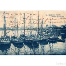 Postales: SAN JUAN DE NIEVA.(ASTURIAS).- PATACHES EN EL PUERTO.. Lote 191015538