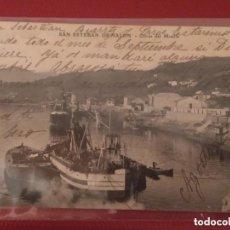 Postales: SAN ESTEBAN DE NALÓN OBRAS DEL MUELLE. ASTURIAS. EJG CIRCULADA.. Lote 191069403