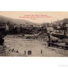 Postales: CANGAS DE TINEO.(ASTURIAS).- DESEMBOCADURA DEL RIO LUIÑA EN EL RIO NARCEA.. Lote 191073110