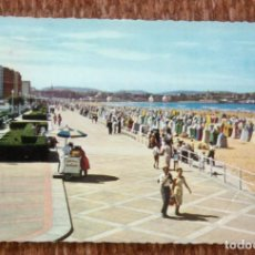 Postales: GIJON - PLAYA DE SAN LORENZO. Lote 191333186