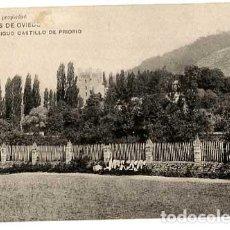 Cartes Postales: ASTURIAS CALDAS DE OVIEDO ANTIGUO CASTILLO DE PRIORIO. ED. CASTAÑÓN. IMPR. HAUSER Y MENET. Lote 191523101