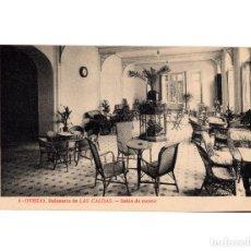 Postales: OVIEDO.(ASTURIAS).- BALNEARIO DE LAS CALDAS, SALÓN DE RECREO.. Lote 191524173