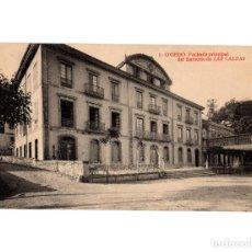 Postales: OVIEDO.(ASTURIAS).- BALNEARIO DE LAS CALDAS. FACHADA PRINCIPAL.. Lote 191525006