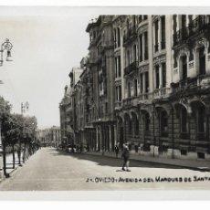 Cartoline: OVIEDO - AVENIDA DEL MARQUÉS DE SANTA CRUZ - P29585. Lote 192388161