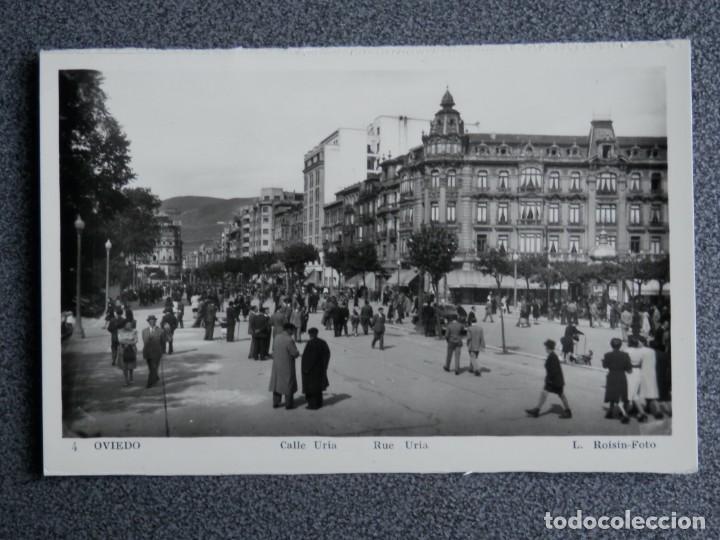 OVIEDO ASTURIAS CALLE URÍA L. ROISIN FOTOGRAFO BONITA POSTAL (Postales - España - Asturias Antigua (hasta 1.939))