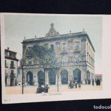 Postales: POSTAL COLOREADA GIJON CASA CONSISTORIAL N 1 NO INSCRITA NO CIRCULADA. Lote 194069733