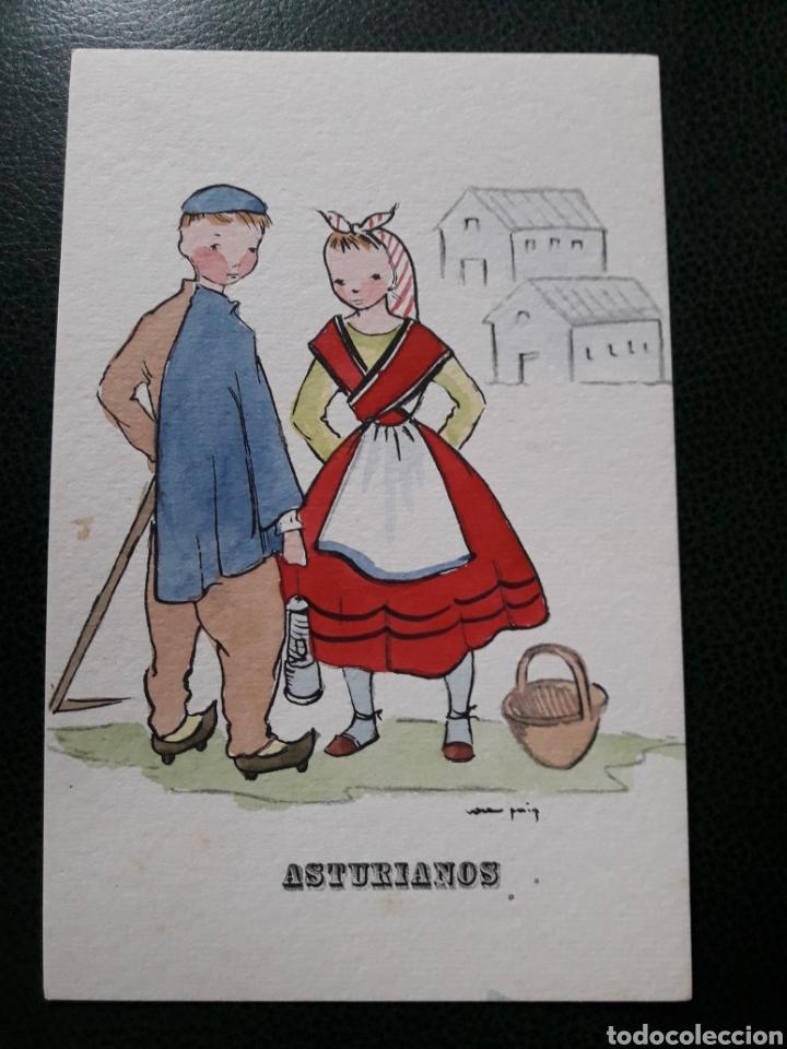 ANTIGUA POSTAL DE ASTURIANOS (Postales - España - Asturias Moderna (desde 1.940))