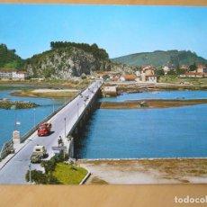 Postales: RIBADESELLA (ASTURIAS) - PUENTE SOBRE EL SELLA (ESCRITA Y CIRCULADA). Lote 194290172