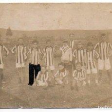 Postales: LLANES. EQUIPO INFANTIL POSADA ANTES DE COMENZAR EL PARTIDO CONTRA EL BALMORI. 1924. ASTURIAS. Lote 194527525