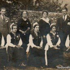 Postales: ARENAS. 1920 GRUPO DE MUJERES VESTIDAS CON EL TRAJE DE LLANISCA EN FIESTAS. ASTURIAS. Lote 194527567