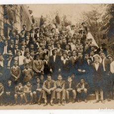 Postales: LLANES. LOS ESTUDIANTES DEL COLEGIO DE LA ENCARNACIÓN DE EXCURSIÓN A COVADONGA. H. 1925. ASTURIAS. Lote 194527677